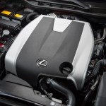 2014 Lexus IS350 F-Sport engine cover on