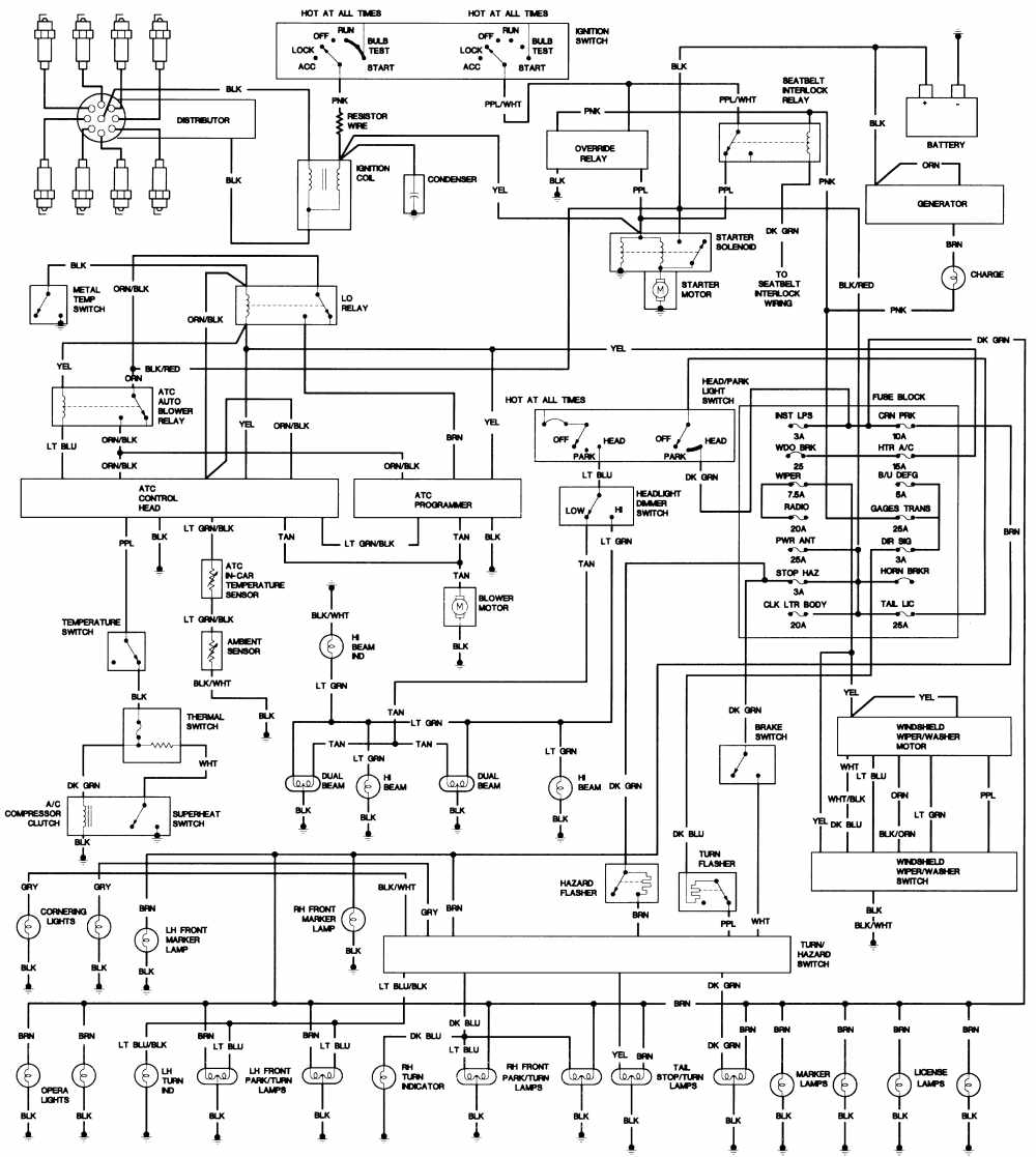 1993 cadillac allante wiring diagram
