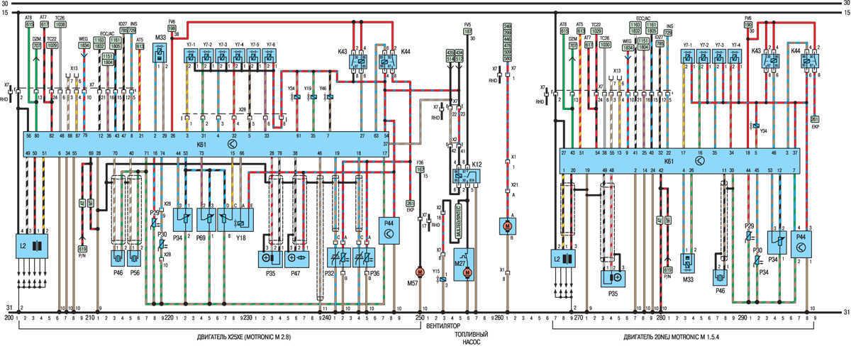 opel vectra b wiring diagram