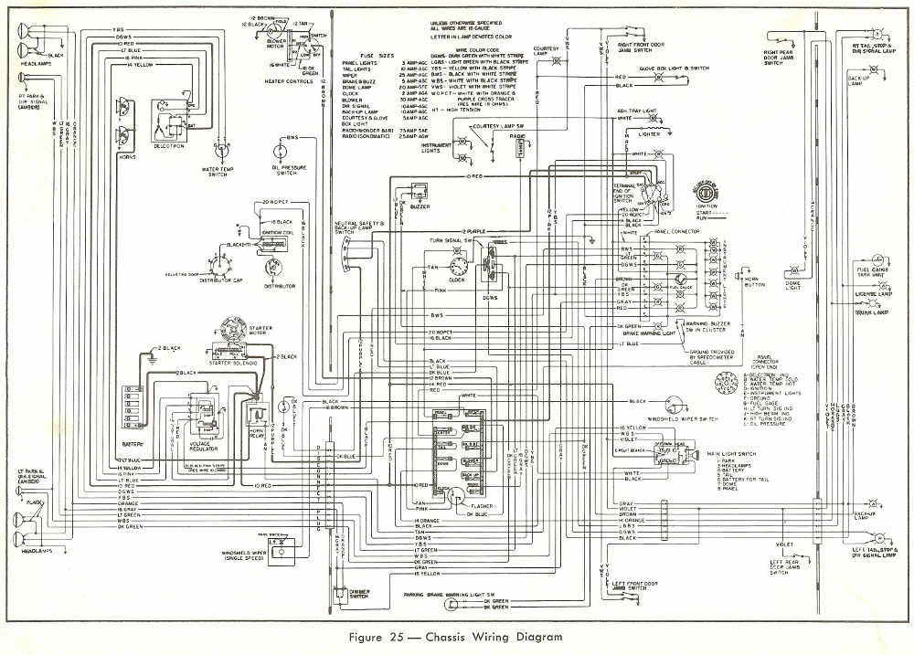 1963 buick lesabre complete wiring diagram