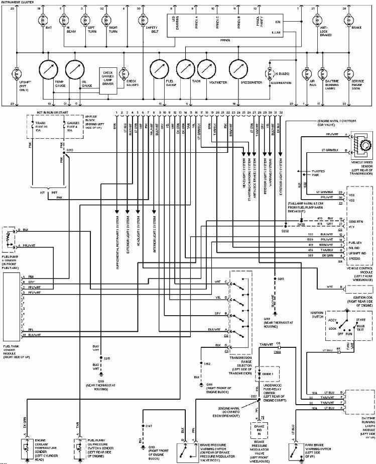 gm gauge cluster wiring diagram