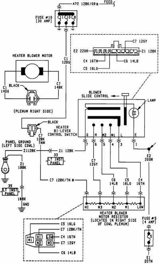 2000 dodge caravan blower motor wiring diagram