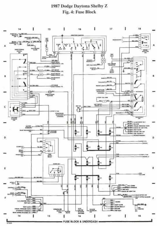 1987 dodge daytona wiring diagram