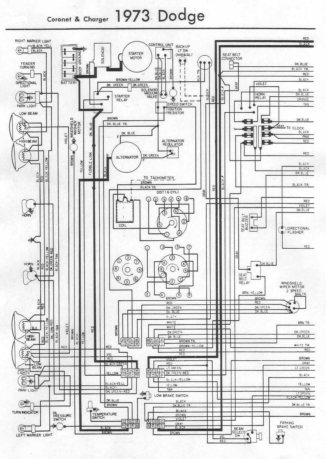 1973 dodge challenger fuse box diagram