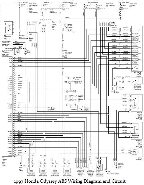 1997 honda odyssey electrical diagram