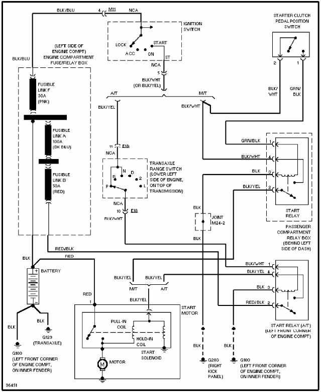 hyundai accent 1996 wiring diagram