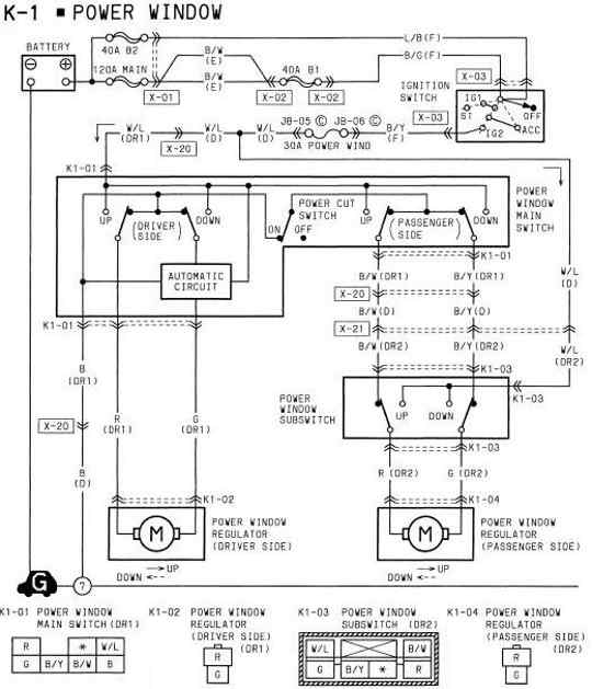 mazda 6 power window wiring diagram