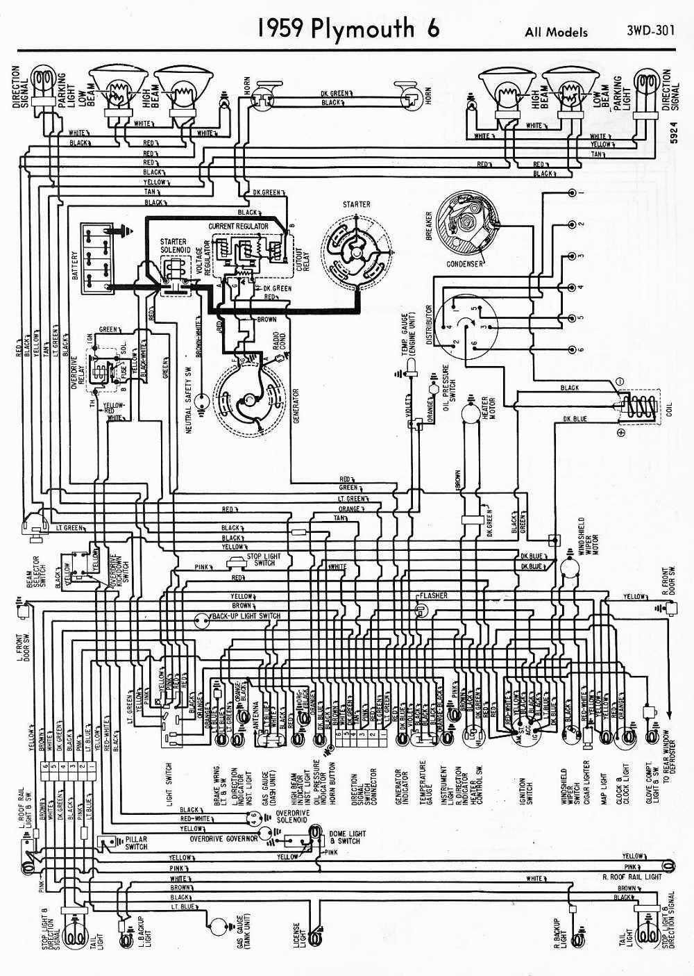 1953 willys wagon wiring diagram