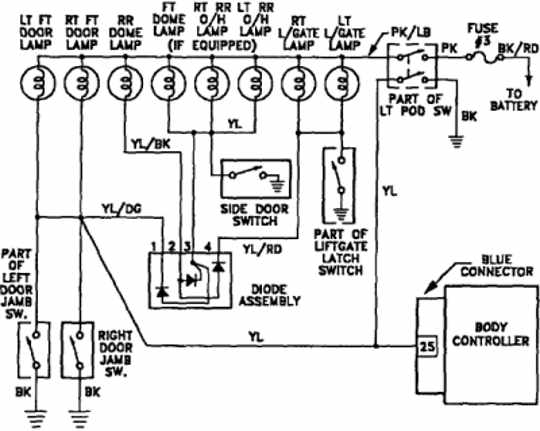 interior light wiring diagram of 1992 plymouth voyager