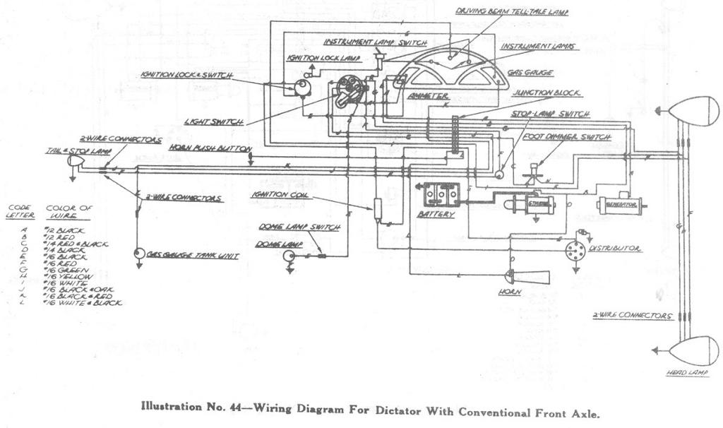 wiring diagram for 1937 studebaker 2 3 ton cab forward trucks