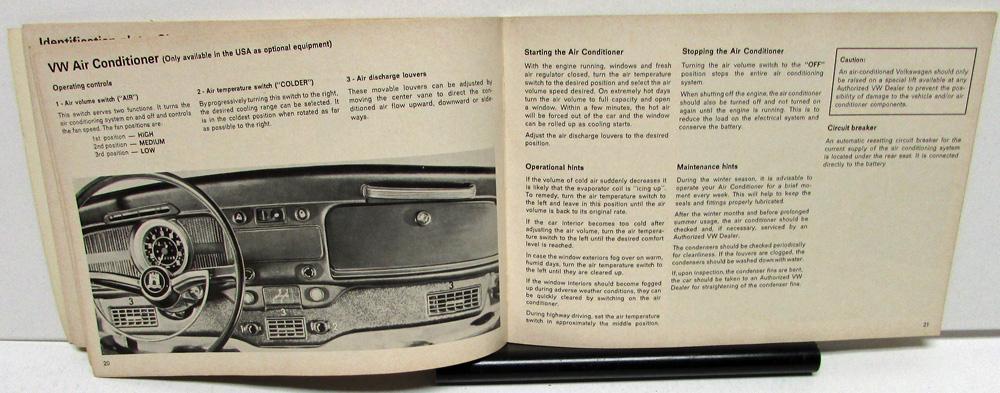 1969 vw beetle owners manual