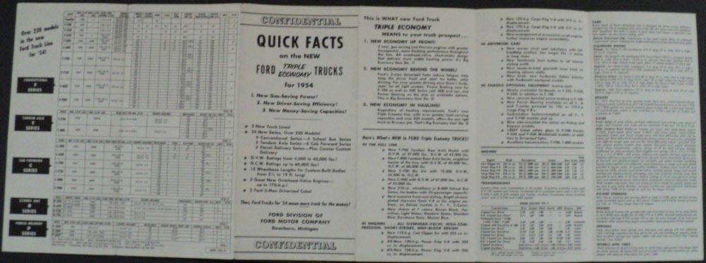 1950 ford truck brochure