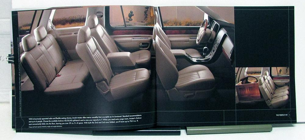 2005 Lincoln Aviator Sales Brochure  Specifications