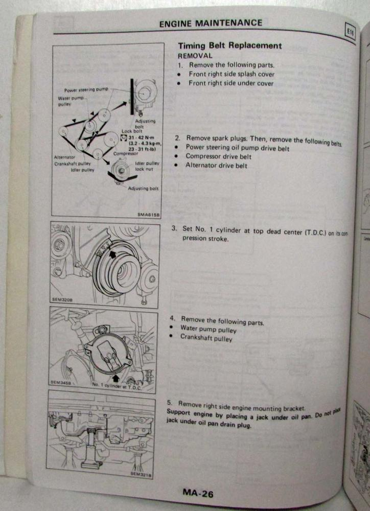1987 Nissan Sentra Service Shop Repair Manual Model B12 Series