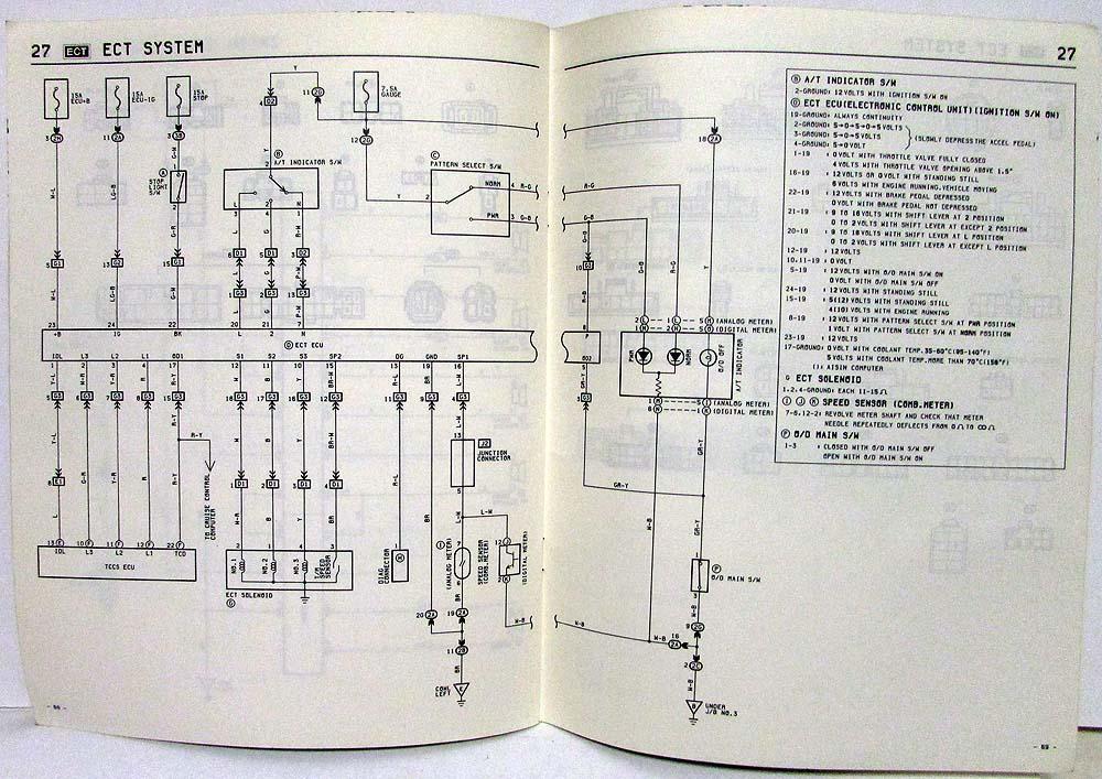 1985 Toyota Celica Supra Electrical Wiring Diagram Manual US  Canada