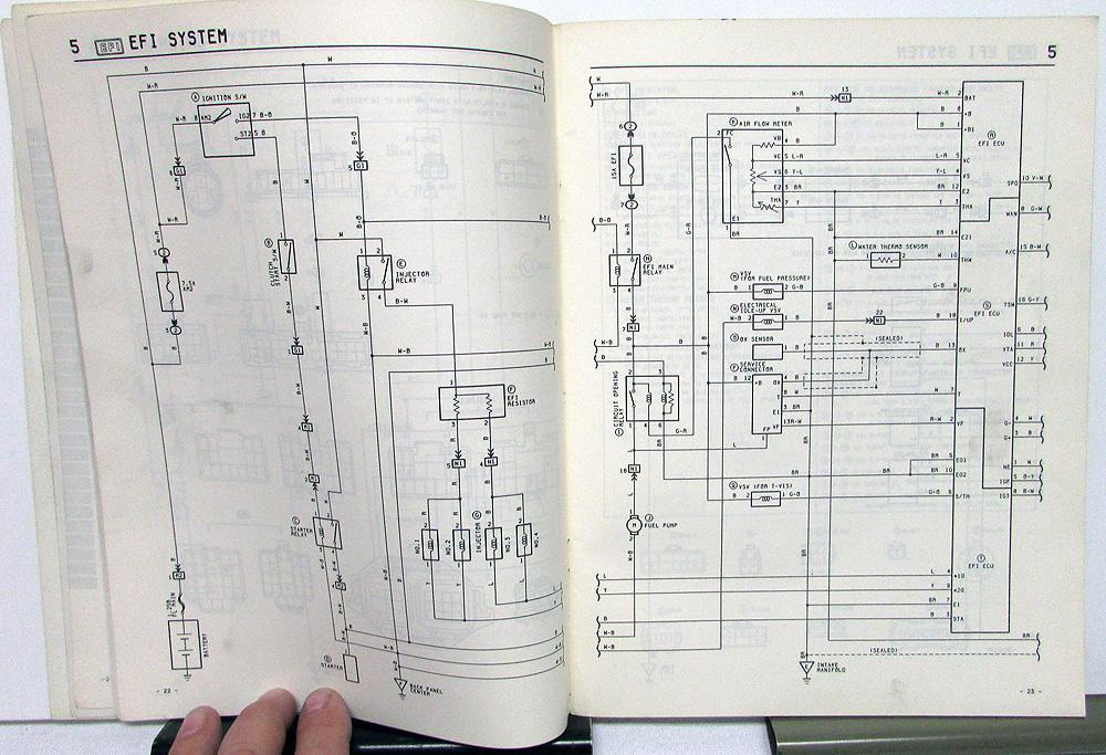 1985 Toyota MR2 Service Shop Repair Manual Electrical Wiring Diagram