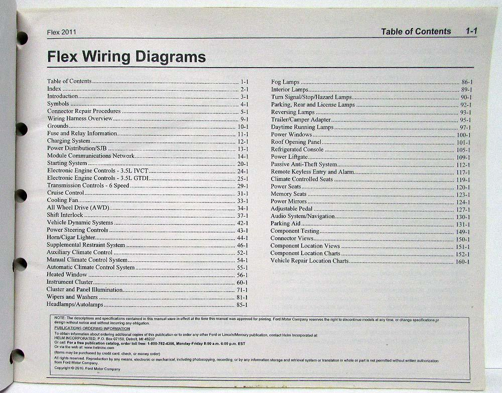 2011 FORD FLEX WIRING DIAGRAMS - Auto Electrical Wiring Diagram