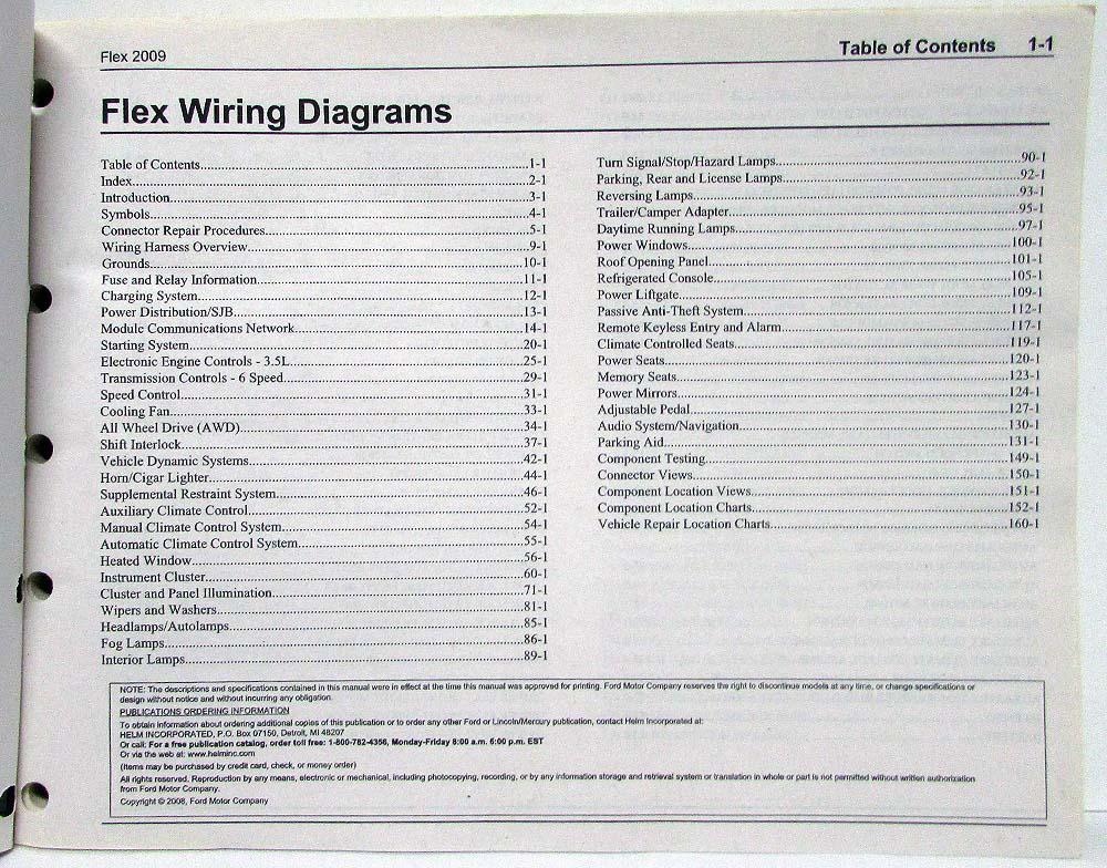 2009 Ford Flex Electrical Wiring Diagrams Manual