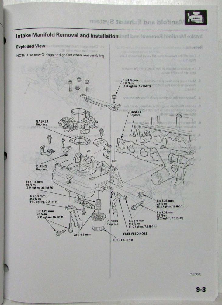 2001-2005 Honda Civic GX Service Shop Repair Manual Supplement