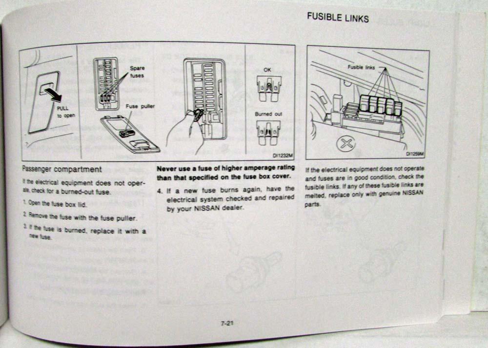 1992 Nissan Sentra NX1600 NX2000 Owners Manual