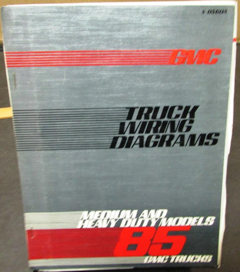 1985 GMC Electrical Wiring Diagram Dealer Manual Medium Heavy Duty