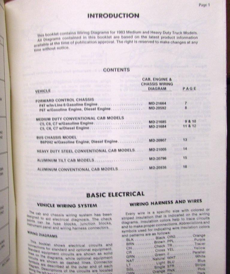 1983 GMC Electrical Wiring Diagram Dealer Manual Medium  Heavy Duty