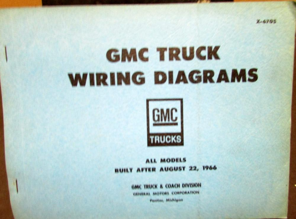 1967 GMC Dealer Electrical Wiring Diagram Service Manual All Truck