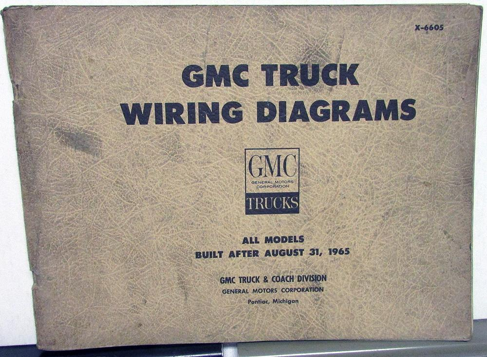 1966 GMC Dealer Electrical Wiring Diagram Service Manual All Truck