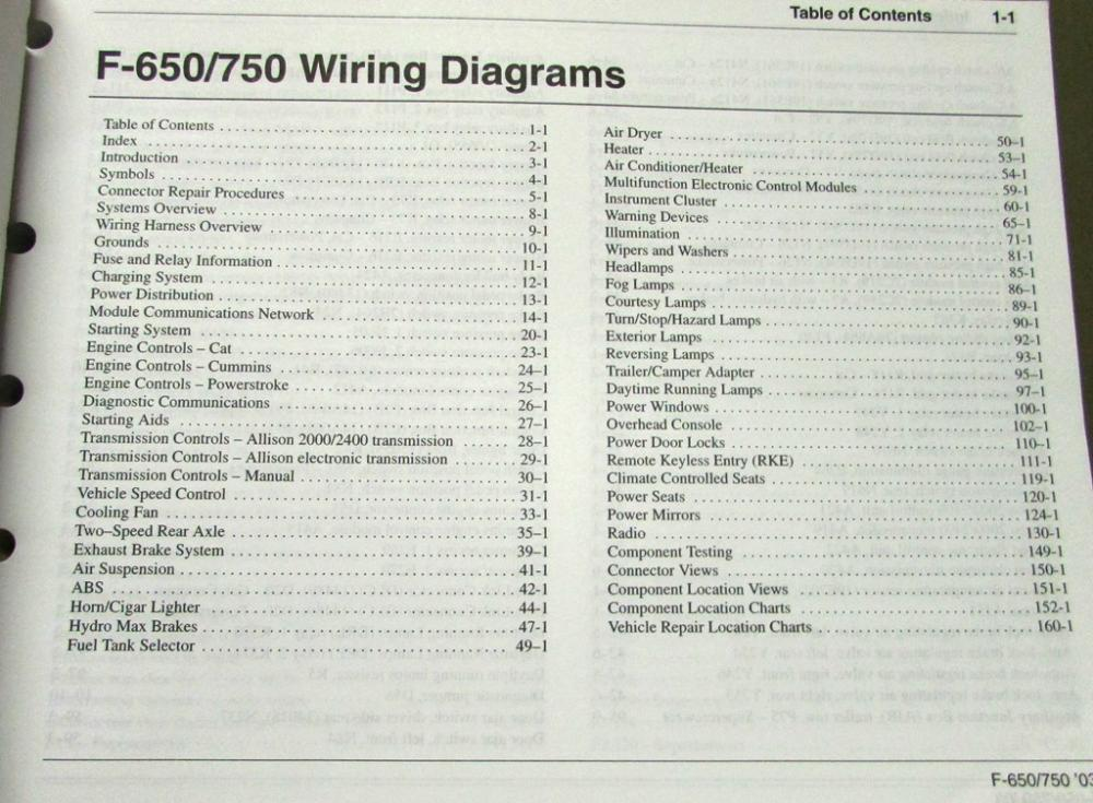 2003 ford dealer electrical wiring diagram manual f650 750