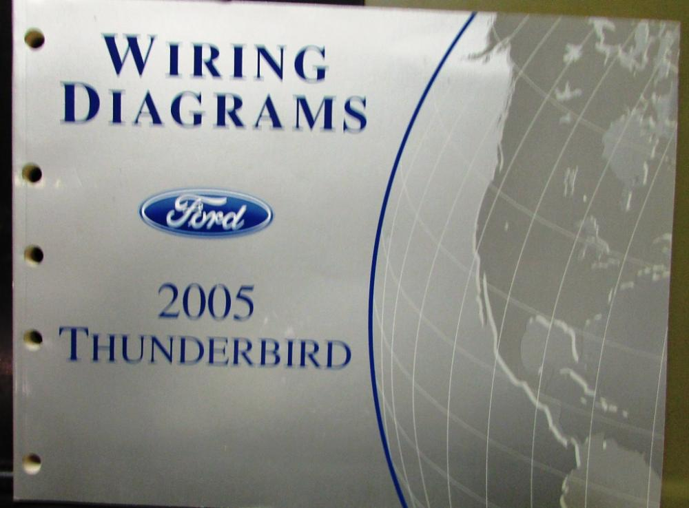 2005 Ford Electrical Wiring Diagram Service Manual Thunderbird