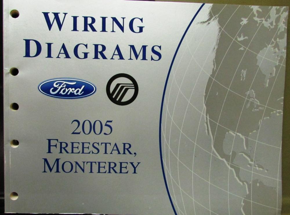 2005 Ford Mercury Electrical Wiring Diagram Service Manual Freestar