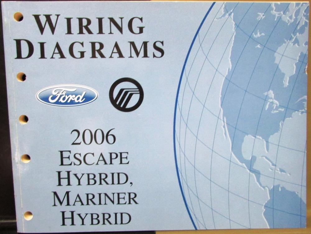 2006 Ford Mercury Dealer Electrical Wiring Diagram Manual Escape