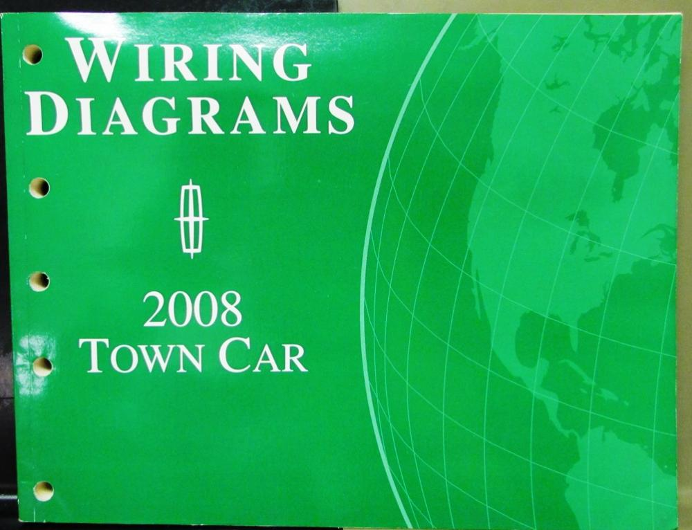 2008 Lincoln Dealer Electrical Wiring Diagram Service Manual Town Car