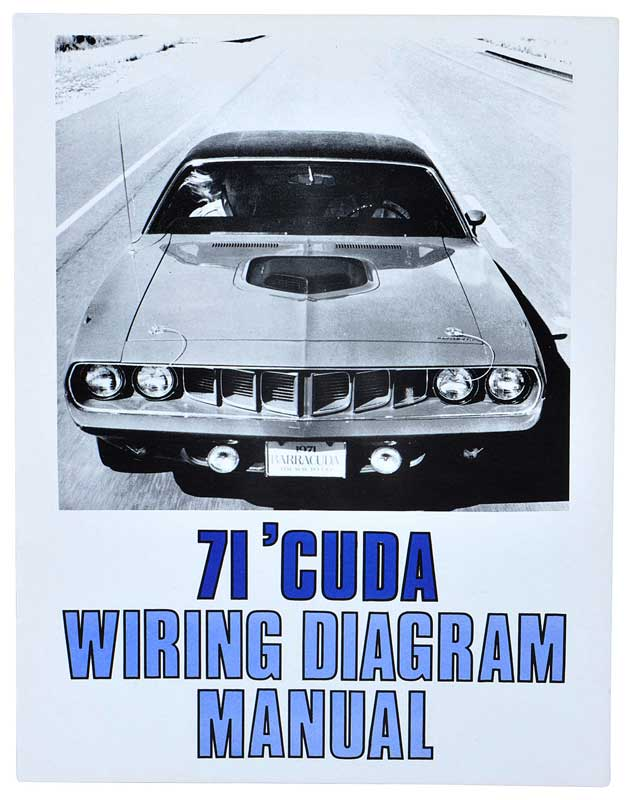1971 All Makes All Models Parts L3043 1971 Plymouth \u0027Cuda Wiring