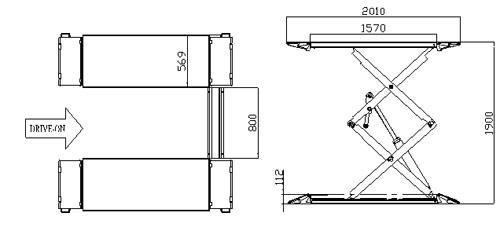Lifts Pa 7230 On Floor Scissor Lift 30t