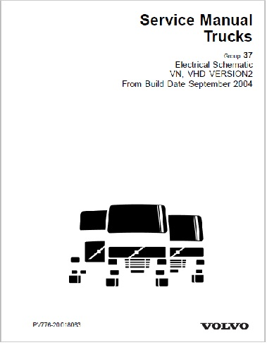 Sept 2004 - Up Volvo VN VHD Truck Complete Electrical Wiring Diagrams