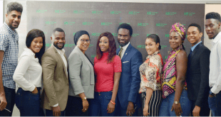 From left: Offiong Anthony (Thin Tall Tony), Ese Eriata (Ese), Ekemini Ekerette (Kemen), Raliat Oyetunde, a principal SME Consultant to Heritage Bank/CEO of Prinsult Global; CoColce Sowode (Coco-Ice), Fela Ibidapo, Group Head, Corporate Communication of the bank; Gifty Powers, Uriel Oputa (Uriel), Miyonse Oluwaseyi (Miyonse) and Somadina Anyama (Soma), when the bank hosted Ex-Housemates of the Big Brother Naija reality show and other 21st century emerging entrepreneurs at a business breakfast meeting in Lagos...recently