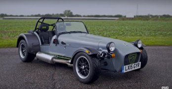 The Caterham Seven 420R which the team from evo put through its paces on the track