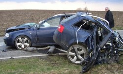Audi RS6 Splits In Half And The Driver LIVES!!!!