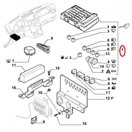 60659406 Fuse box - Alfa Romeo 166