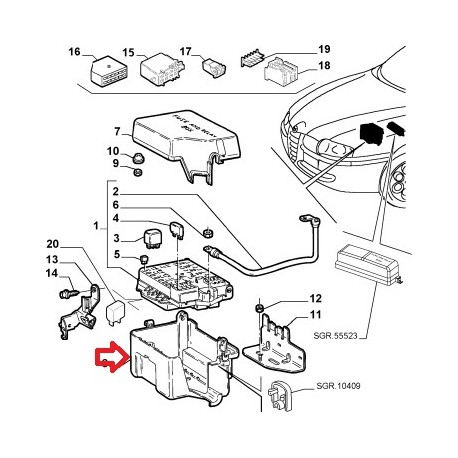 Connectors and wires protection - Alfa Romeo 147 / 156 / GT (V6