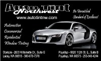 Auto Tint Northwest - Automotive Commercial Residential ...