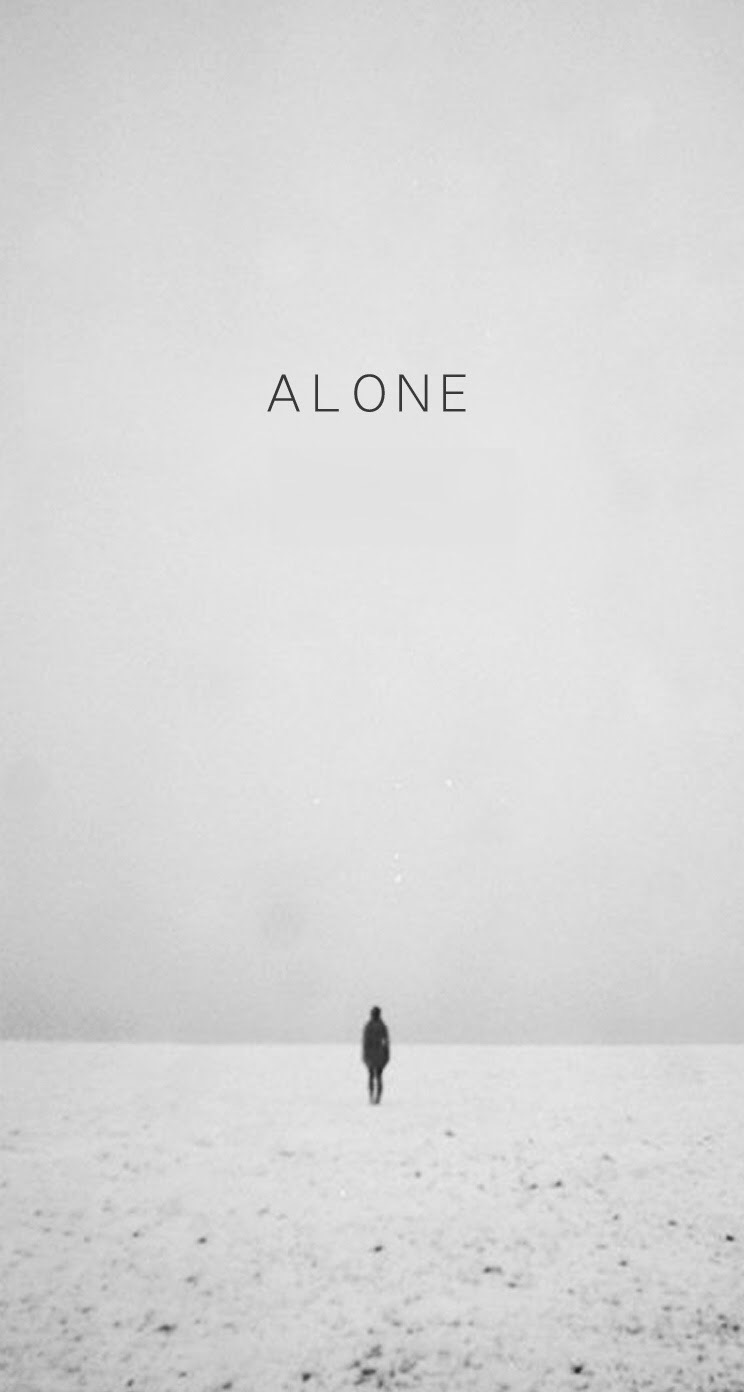 Lonely Girl Wallpaper With Quotes 60 Typography Iphone Wallpapers Download For Free