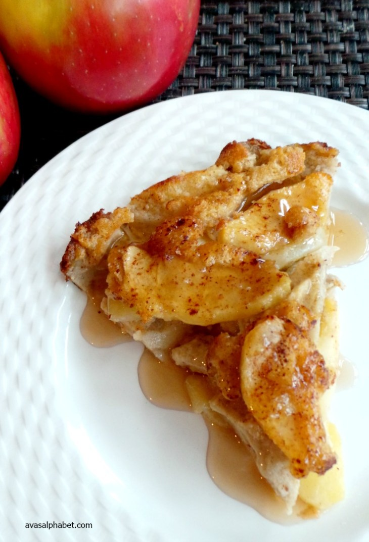 Baked Apple Pancake, shared by Ava's Alphabet at The Chicken Chick's Clever Chicks Blog Hop