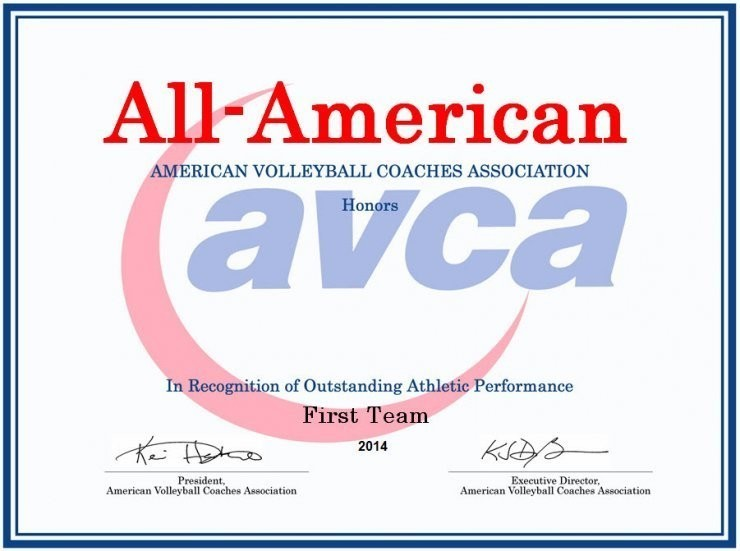 Awards American Volleyball Coaches Association