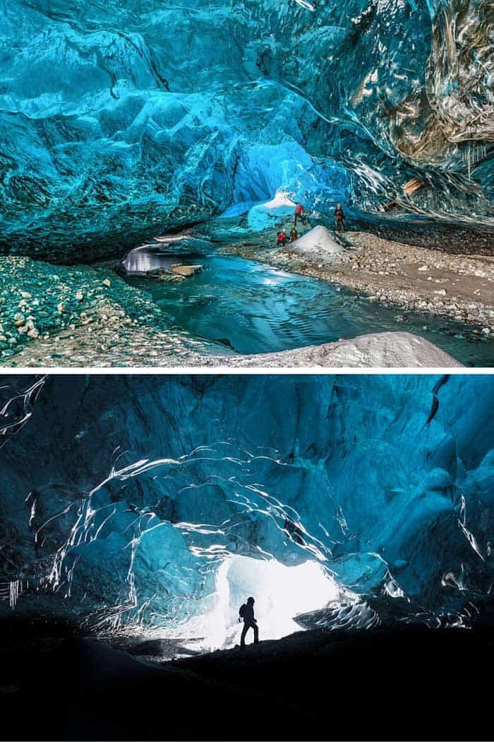 Take a tour of the crystal caves! Don't miss the top 10 things to do in Iceland! Click through to read the whole post!