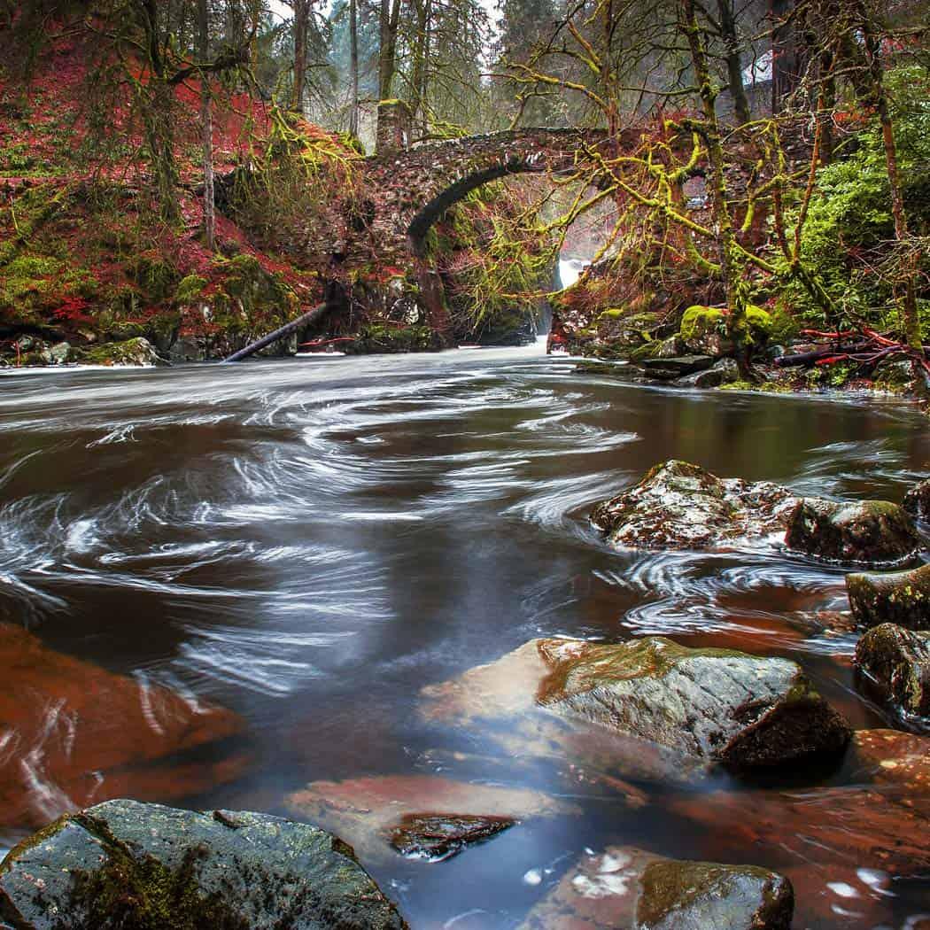 The Hermitage Bridge near Dunkeld Scotland. Click through to see 20 mind blowing photos of Scotland!