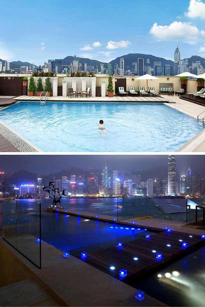 Intercontinental hotel pool in Hong Kong! Click through to see 20 more of the best pools on earth!
