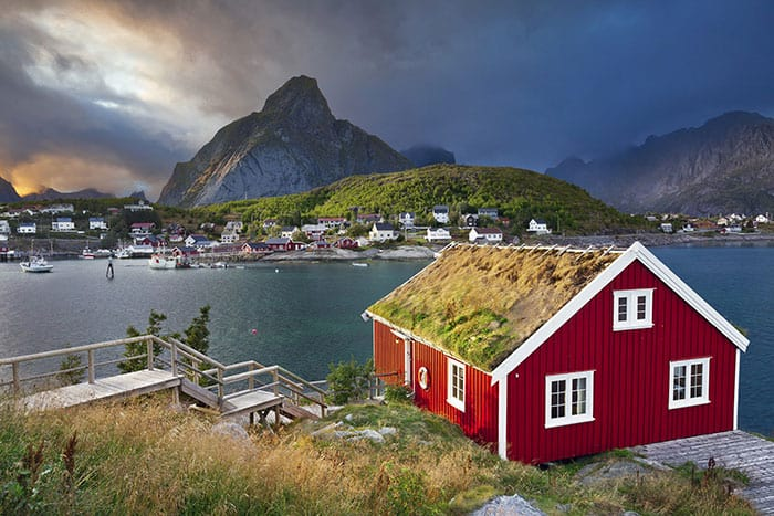 Reine fishing village.