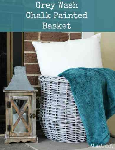 Gray Wash Chalk Painted Basket